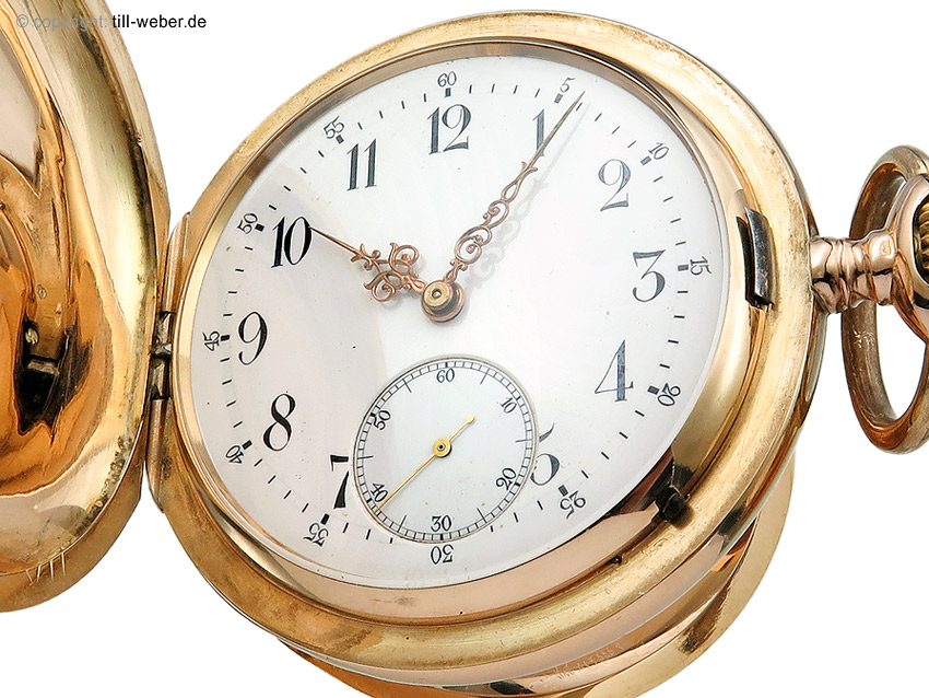 """IWC """"Savonette Taschenuhr"""" Gold nach 1893"""