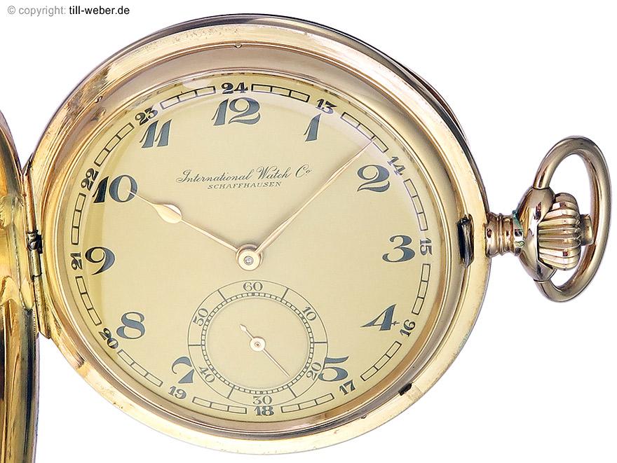 """IWC """"Savonette Taschenuhr"""" Gold ca. 1930"""