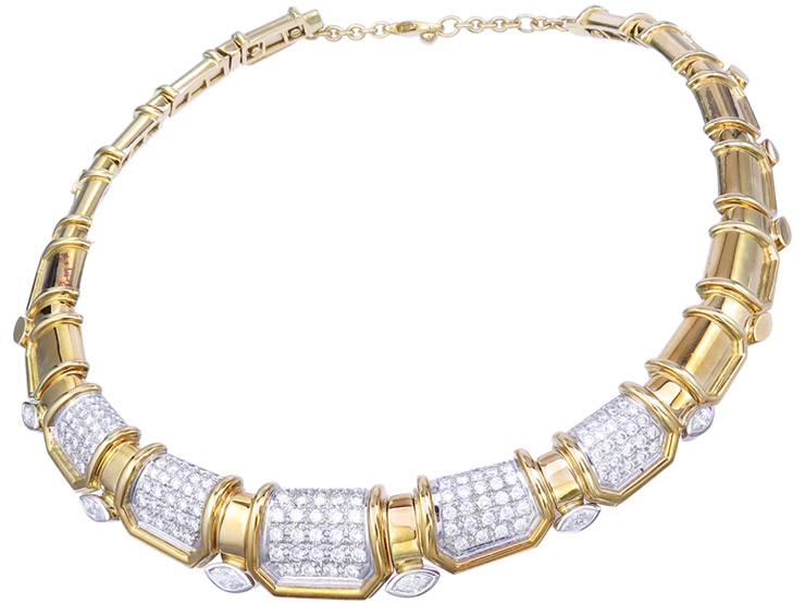 Collier Diamonds 18 Karat Yellow Gold Certificate