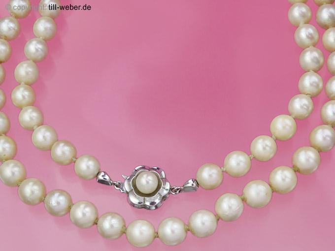 """Kette """"Perlen"""" 585er Weißgold"""