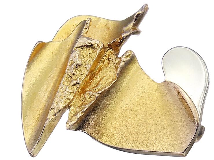 Lapponia Brosche 585er Gelbgold 1983