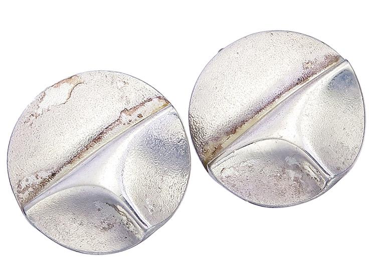 Lapponia Ear Clips TRIANGULUM 925 Silver I8 1987