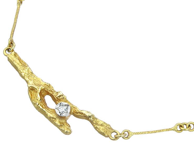 Lapponia Collier Brillant 750er Gelbgold
