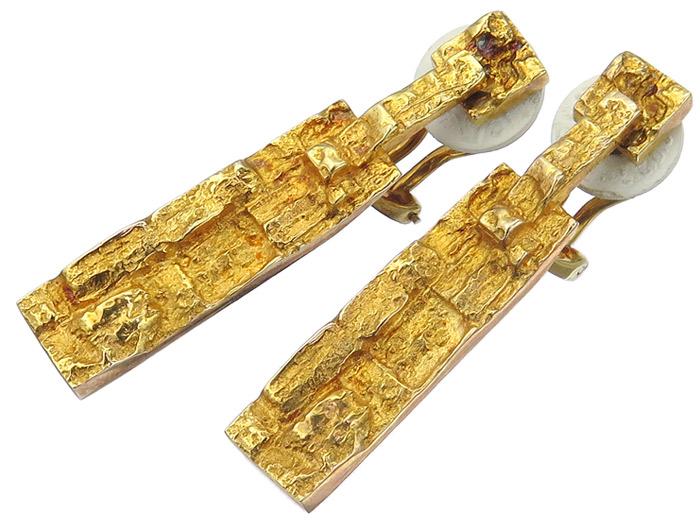 Lapponia Earrings Clips 14 Karat Yellow Gold