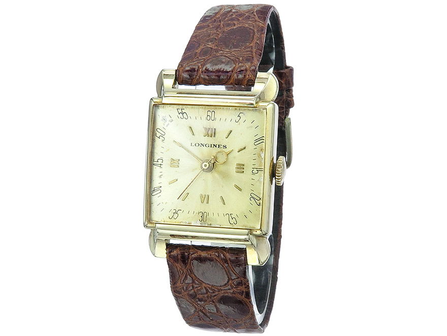 "Longines ""Square"" Gold ca. 1945"