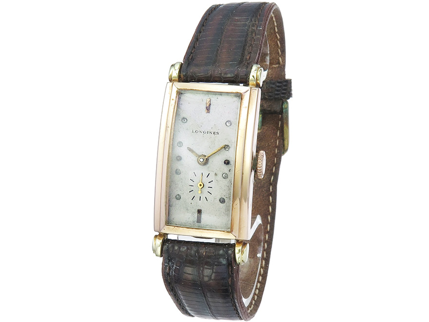 "Longines ""Rectangle"" Gold ca. 1938"