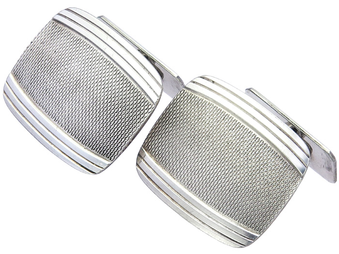 Cufflinks Retro 835 Silver approx. 1940-50