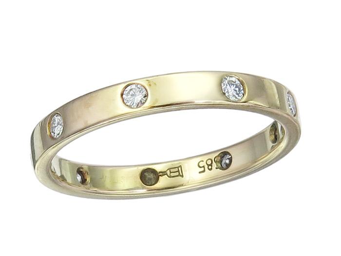 Memory Ring Brillanten 585er Gelbgold