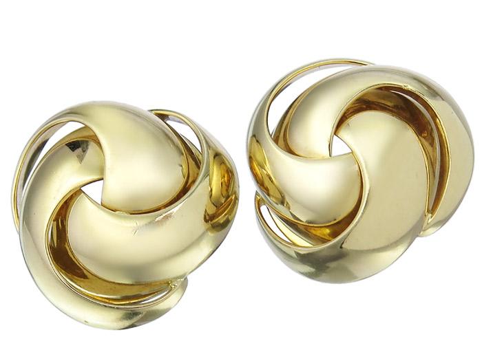 Ohrclips Knoten 750er Gold