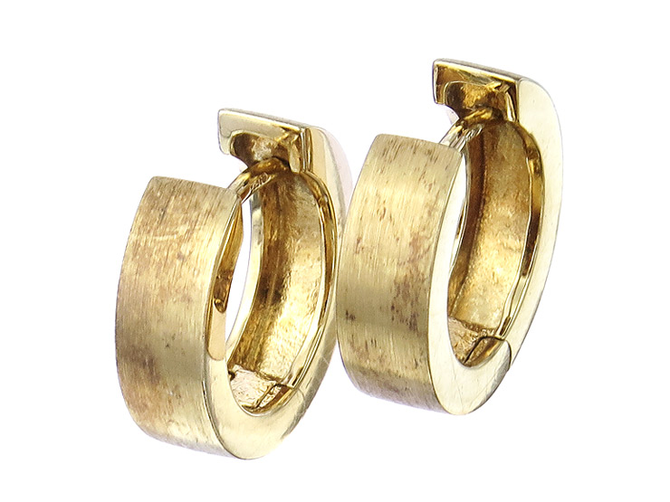 Hoop Earrings 14 Karat Yellow Gold