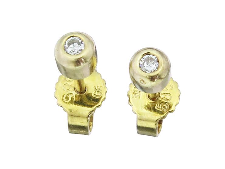 Ohrstecker Brillant 585er Gelbgold