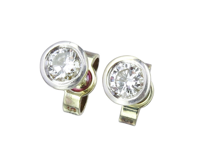 Earrings Diamond 14 Karat Yellow Gold