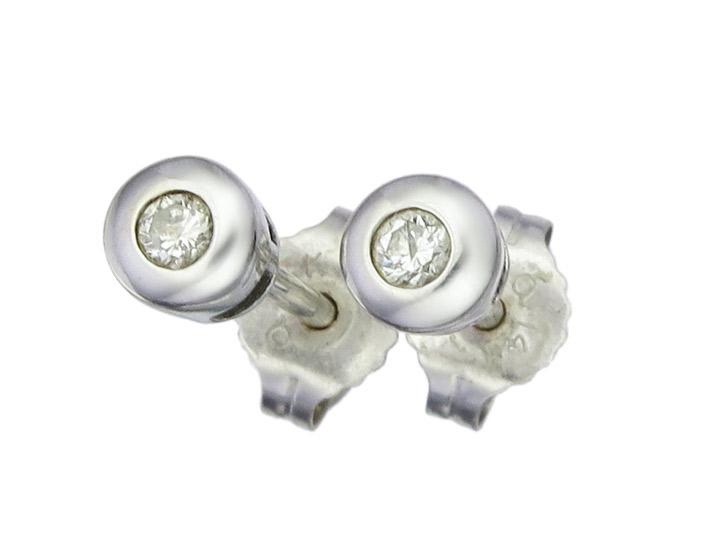 Earrings Diamond 18 Karat White Gold