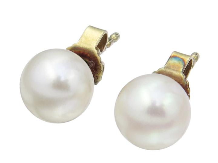 Ohrstecker Perle 585er Gelbgold