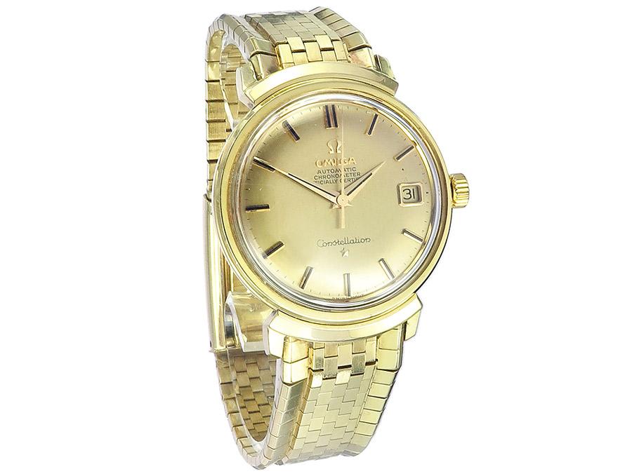 Omega Constellation De Luxe Gold Goldband um 1962