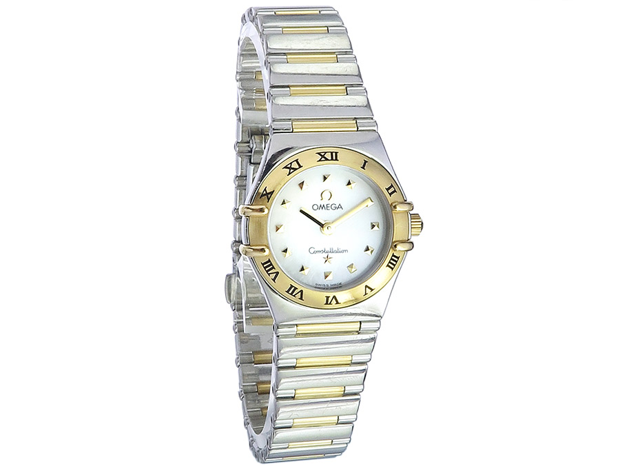 Omega Constellation Lady Steel Gold Mother of Pearl Dial