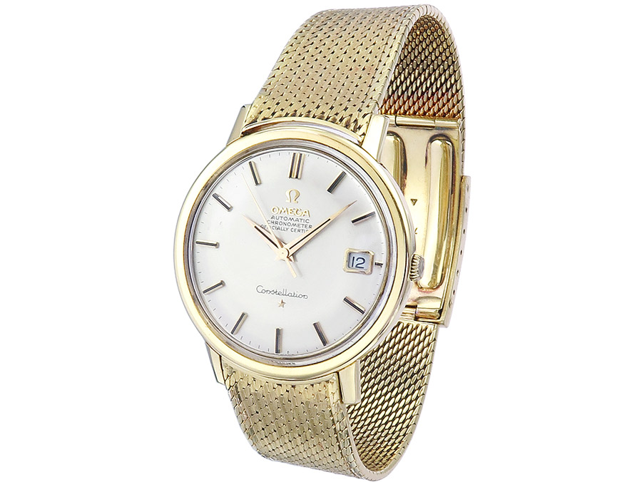 Omega Constellation Deluxe Gold Goldband um 1965