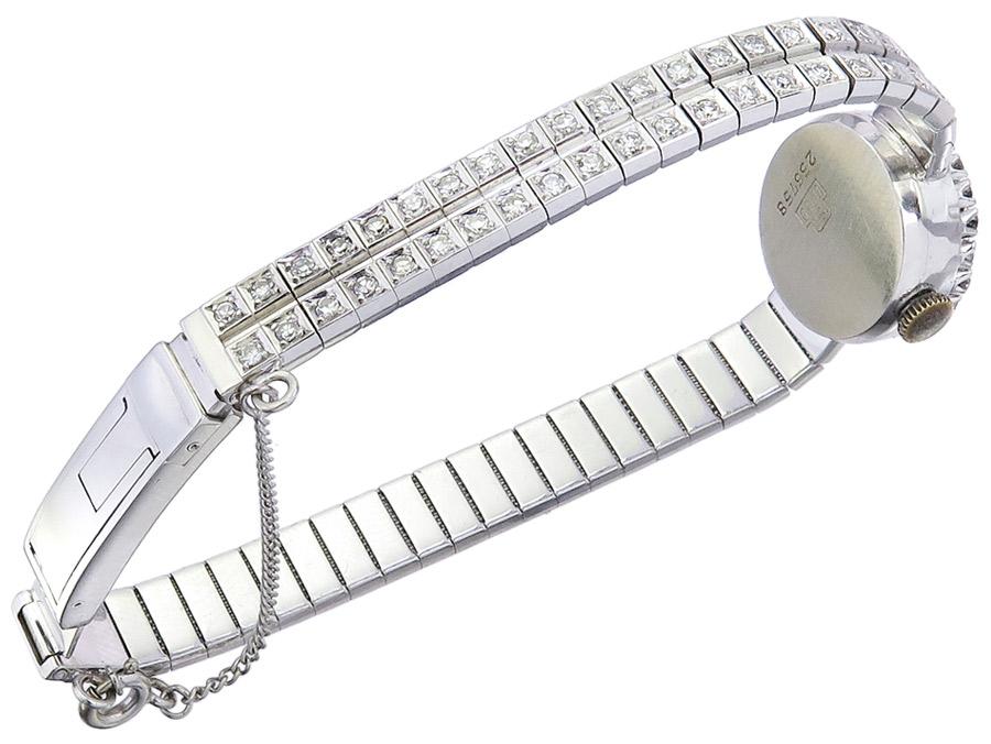 Para Klasse Damenuhr Weißgold Diamanten um 1960-Para05