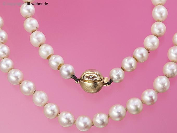 "Perlenkette ""Besatzdiamanten"" Gelbgold"