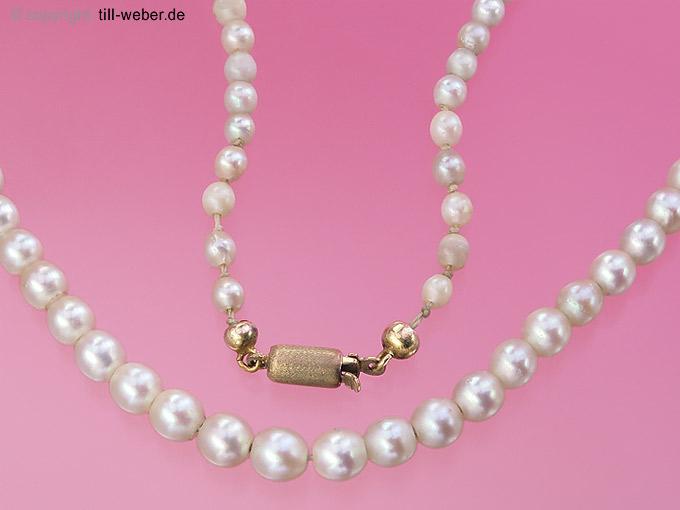 """Perlenkette """"Gelbgold"""""""