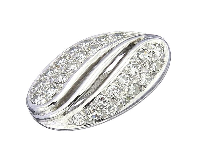 Perlenketten Clip Diamanten 585er Weissgold