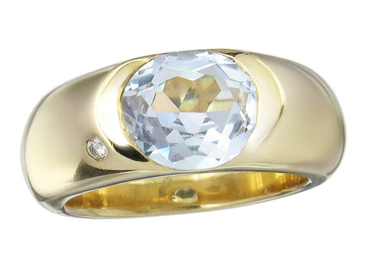 Ring Topaz 18 Karat Yellow Gold
