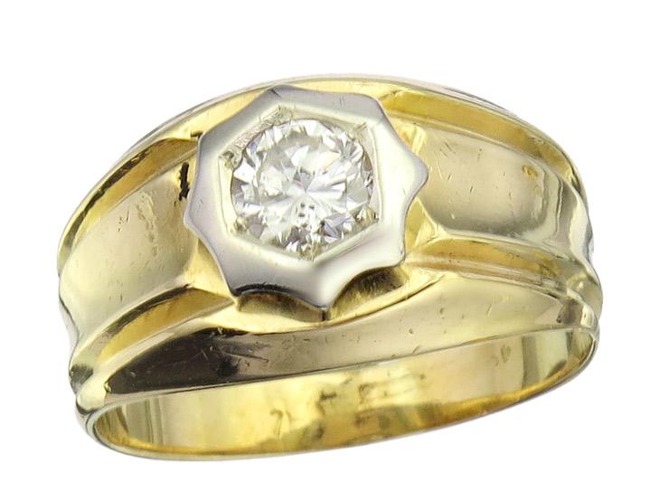 Solitaire Ring Diamond 14 Karat Yellow