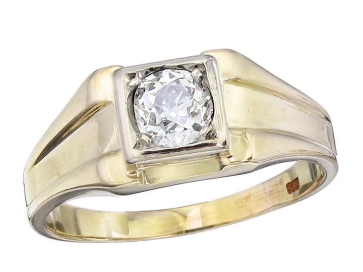Ring Altschlif Diamant 750er Gelbgold