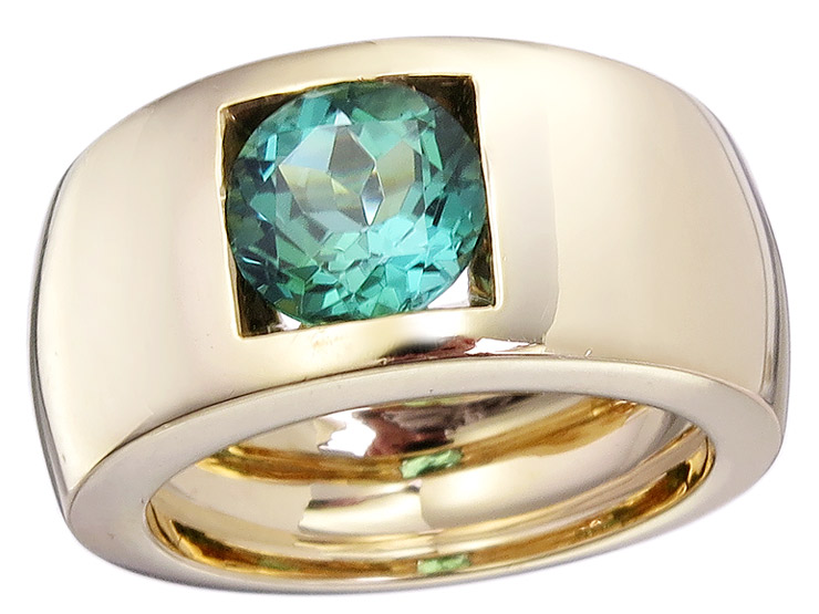 Ring Turmalin 750er Gelbgold
