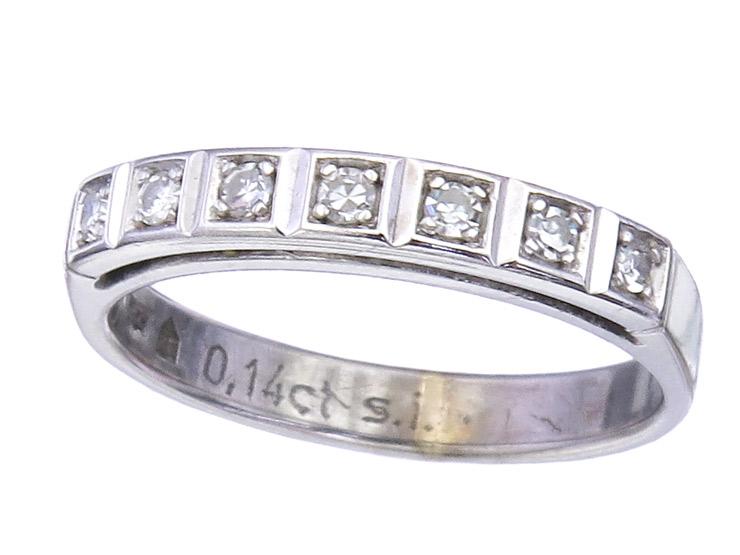 Ring Diamanten 585er Weißgold