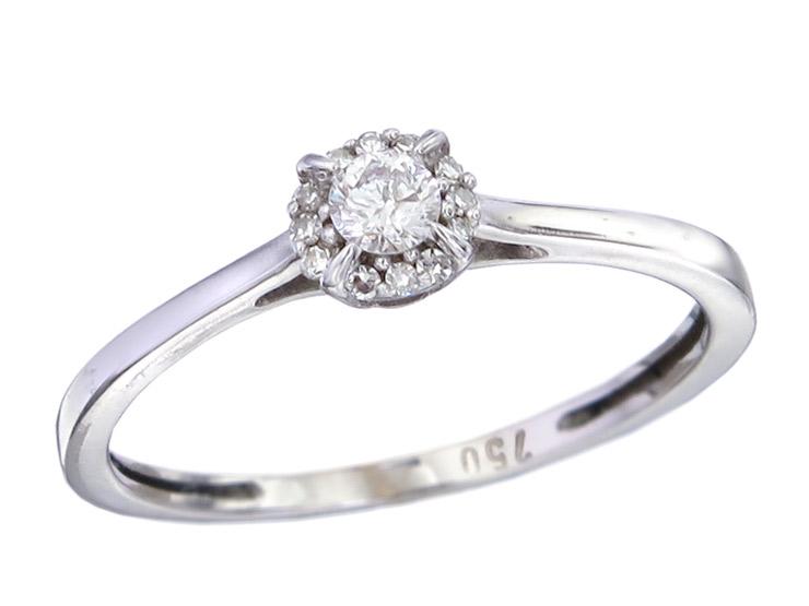 Ring Diamonds 18 Karat White Gold