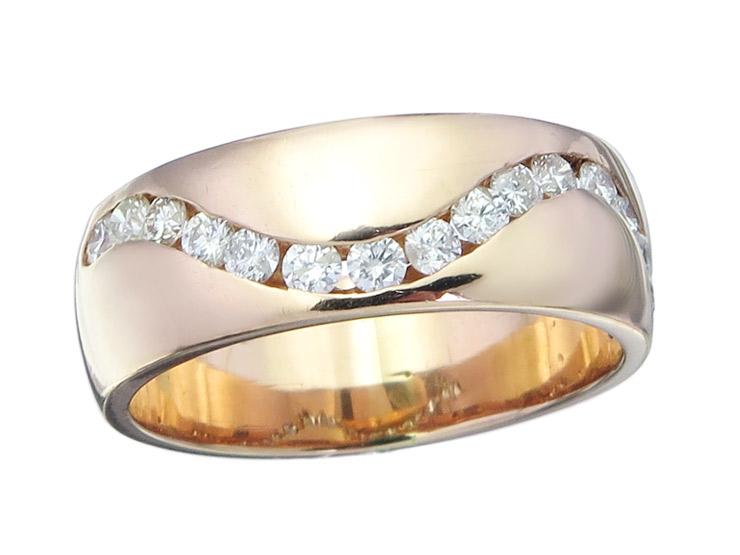 Ring Diamonds 18 Karat Pink Gold