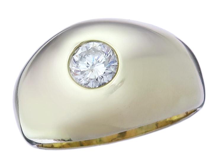 Solitaire Ring Diamond 14 Karat Yellow Gold