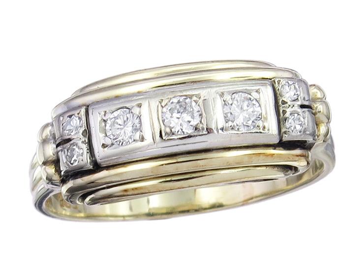 Ring Brillanten 585er Gelb- und Weißgold