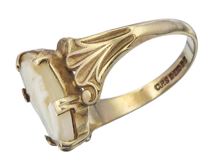 Kamee Antik Gelbgold Ring2443 375er Ring 20 Ca1910 iuOkXlZwTP