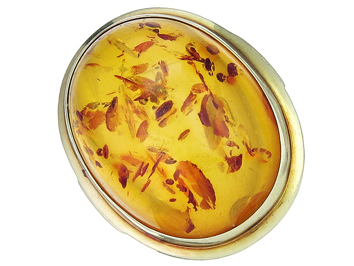 Ring Bernstein 585er Gelbgold