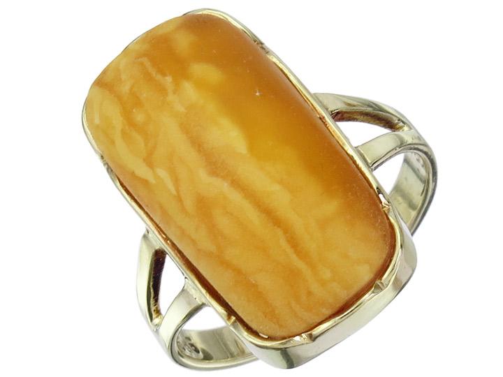 Ring Amber Butterscotch 14 Karat Gelbgold