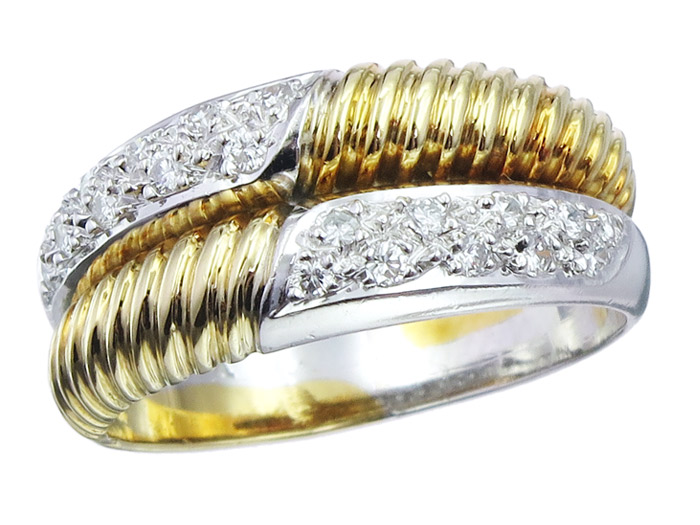 Ring Diamonds 18 Karat Bicolor