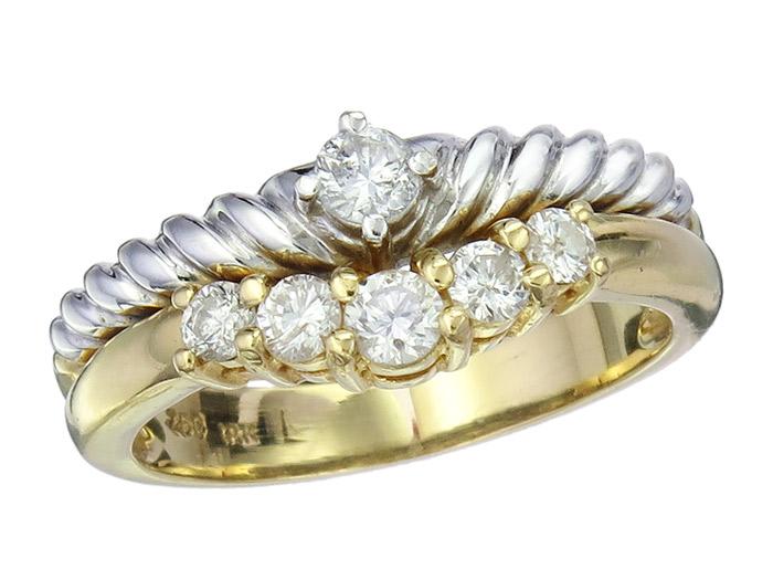 Ring Brillanten 750er Gold Zweifarbig