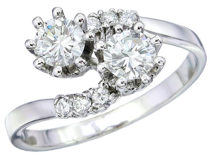 Ring Diamonds 18 Karat White Gold Certificate