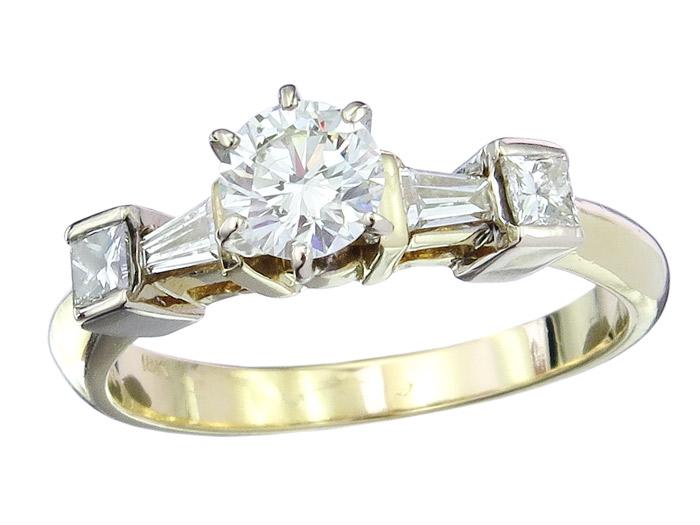 Ring Brillant 0,62 Carat Diamanten 750er Gold Zertifikat
