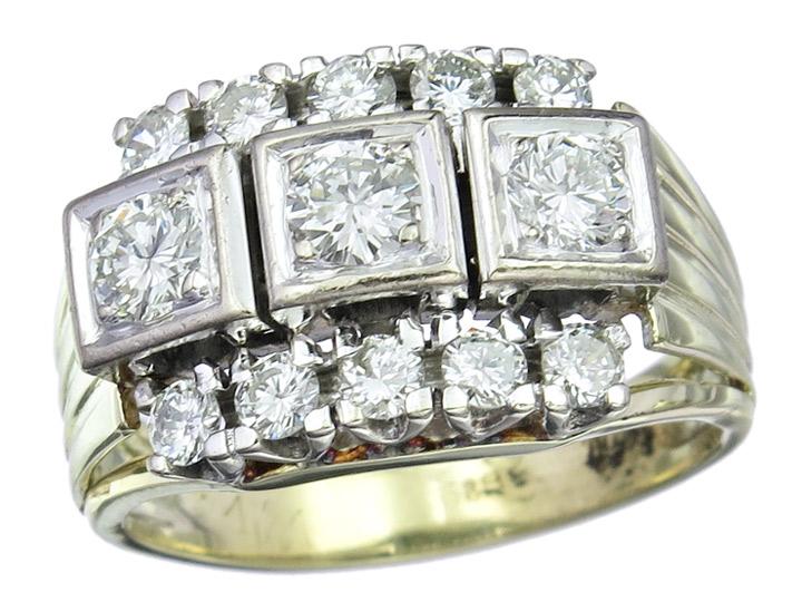 Ring Brillanten 585er Gold Zweifarbig