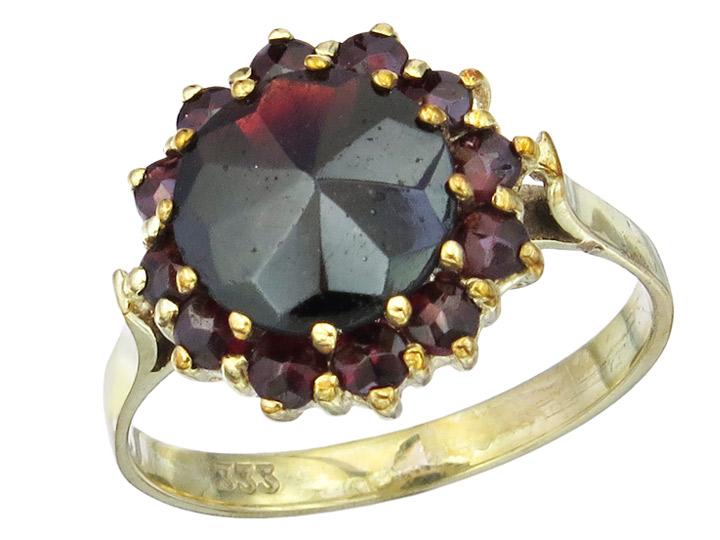Ring Granat 333er Gelbgold