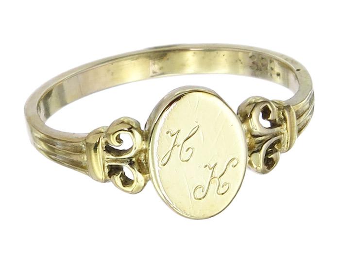 Ring Monogramm 333 Gelbgold