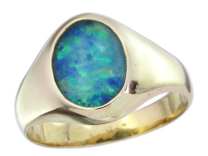 Ring Opal Triplette 750er Gelbgold