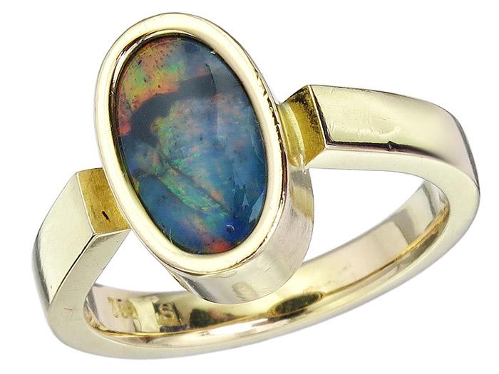 Ring Opal 750er Gelbgold