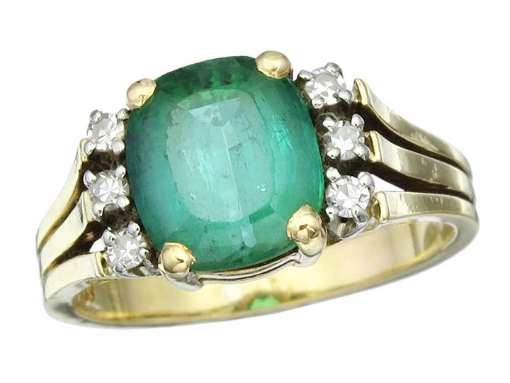 Ring Turmalin Diamanten 750er Gelbgold