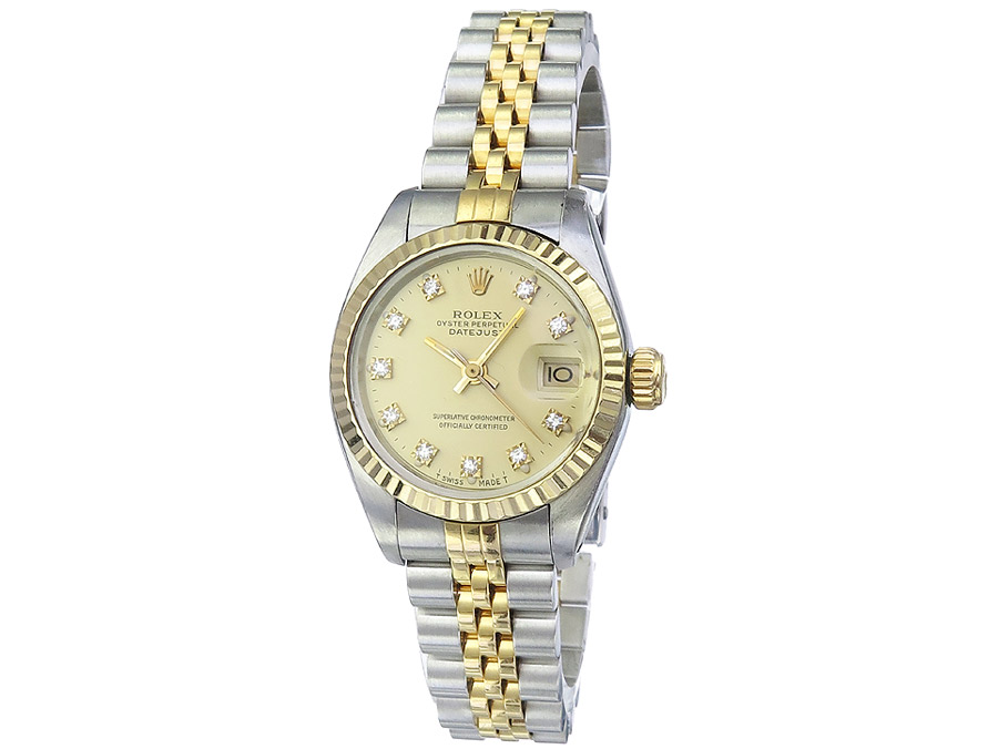 Rolex Datejust Lady Stahl Gold Diamantblatt Box Papiere