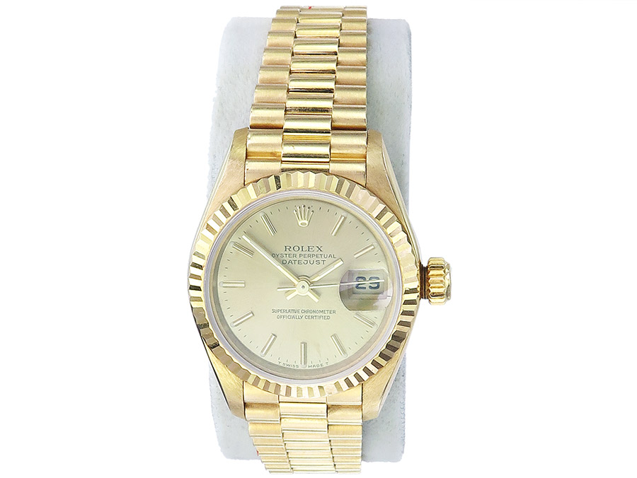 Rolex Lady Datejust Gold Goldband Box Papiere
