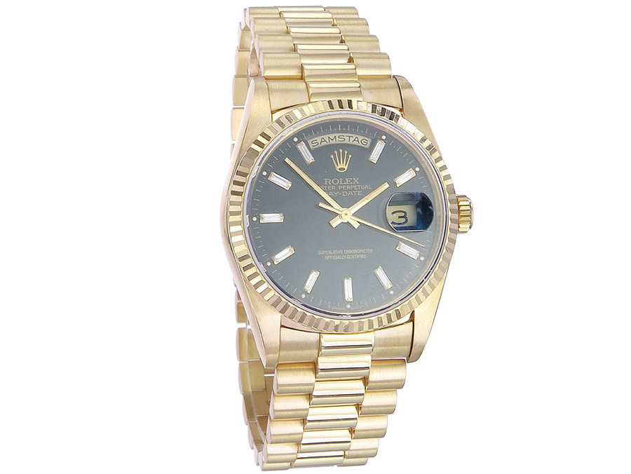 Rolex Day Date Diamond Dial Papers 1991 Rolex Service